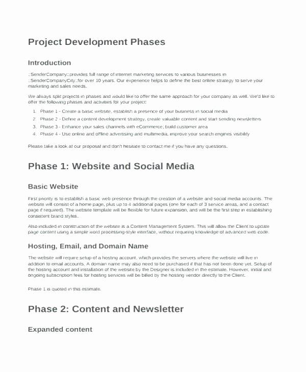 Web Development Proposal Template Beautiful Web Project Proposal Template Website Development