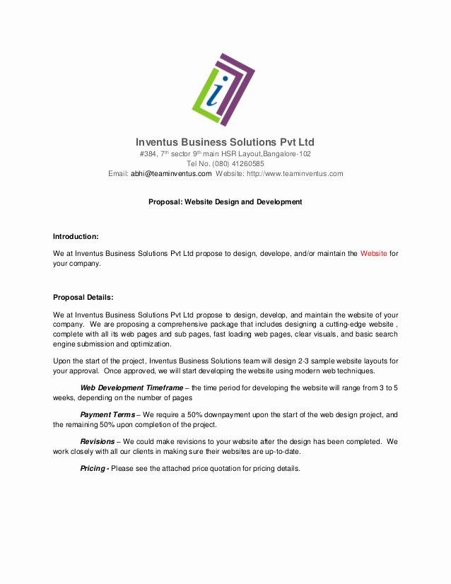 Web Development Proposal Template Best Of Proposal for Website Development