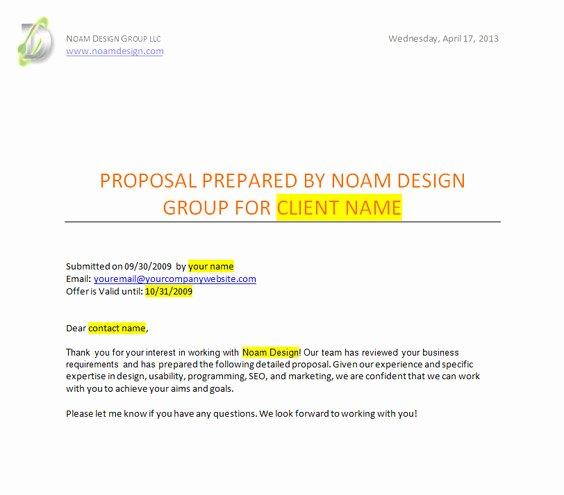 Web Development Proposal Template Elegant Sample Website Proposal Template