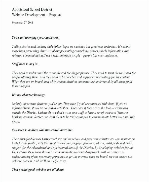Web Development Proposal Template Fresh Web Design Development Proposal Template Website Document