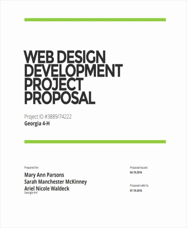 Web Development Proposal Template Lovely 82 Project Proposal Samples