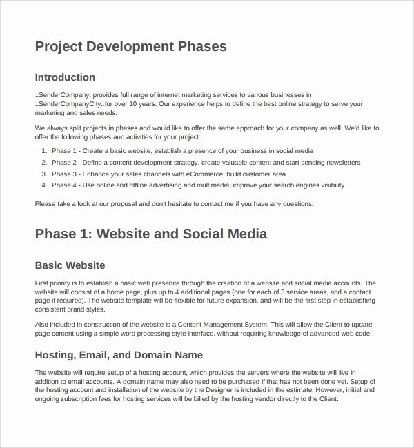 Web Development Proposal Template Lovely 9 Website Design Proposal Templates to Download