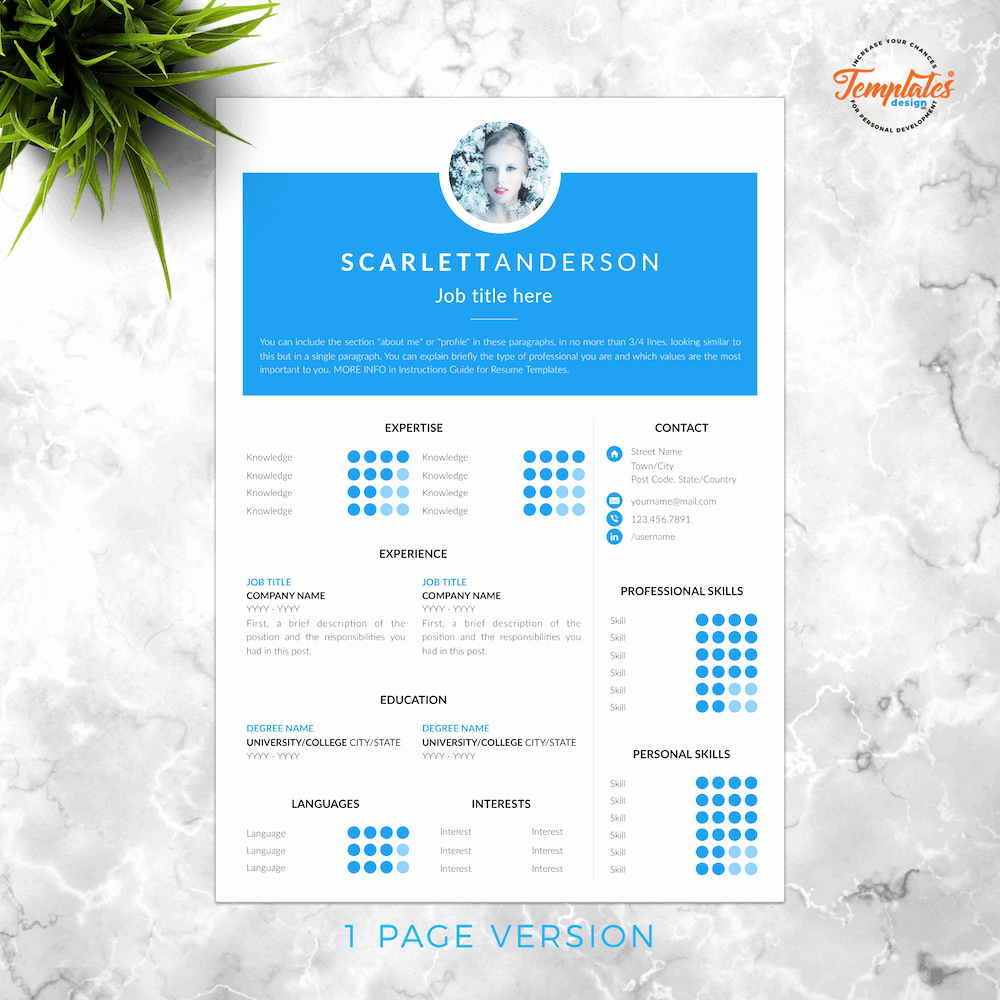 """Web Page Template Word New Professional and Creative Resume Template """"scarlett anderson"""""""