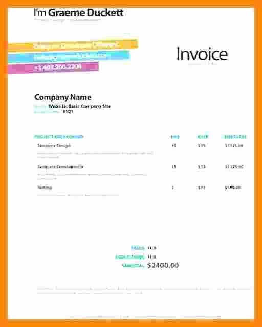 Website Design Invoice Template Beautiful 7 Web Design Invoice Template