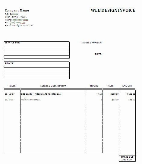 Website Design Invoice Template Best Of Web Design Proposal Sample Image Search Results Picture to