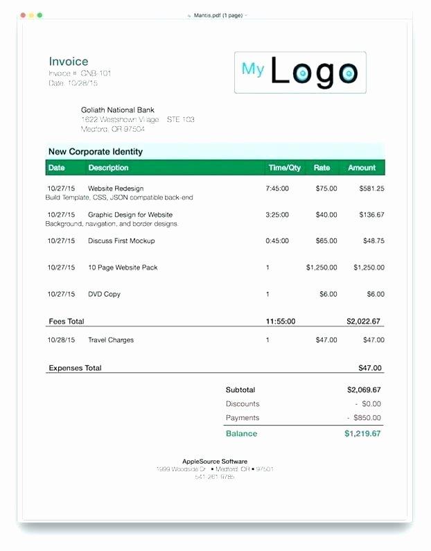 Website Design Invoice Template Inspirational Invoice Template for Website Development Website Design