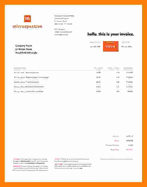 Website Design Invoice Template New 9 Web Design Invoice Template