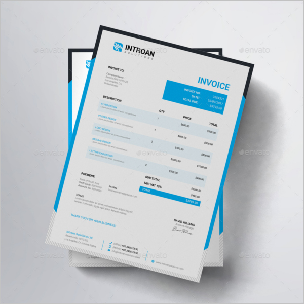 Website Design Invoice Template New Web Design Invoice Template