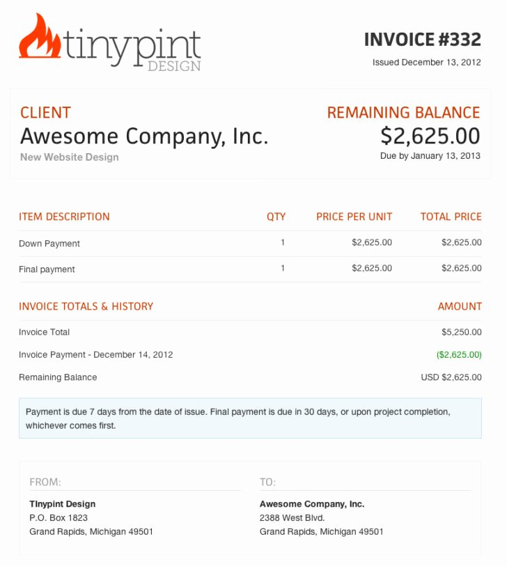 Website Design Invoice Template Unique Web Design Invoice Template Bonsai