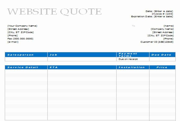 Website Design Quotation Template Best Of 14 Document Template Web Design Quote Design