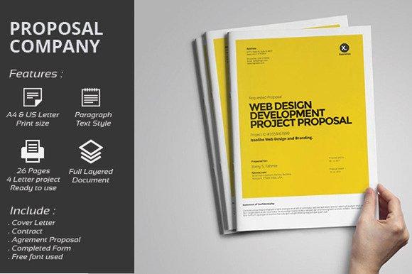 Website Development Proposal Template Beautiful Web Design Proposal Brochure Templates On Creative Market