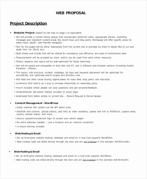 Website Development Proposal Template Lovely 11 Web Design Proposal Templates
