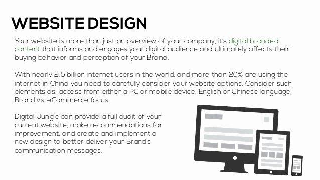 Website Development Proposal Template Luxury Sample Website Proposal Presentation