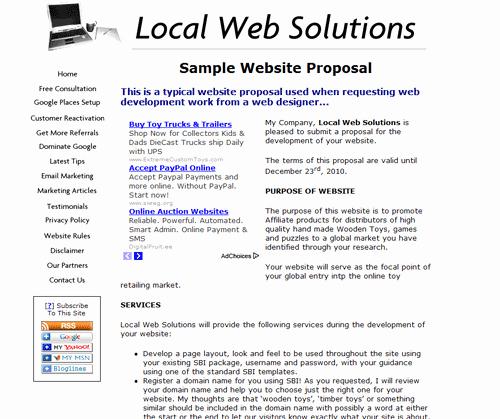 Website Development Proposal Template New Web Application Proposal Template