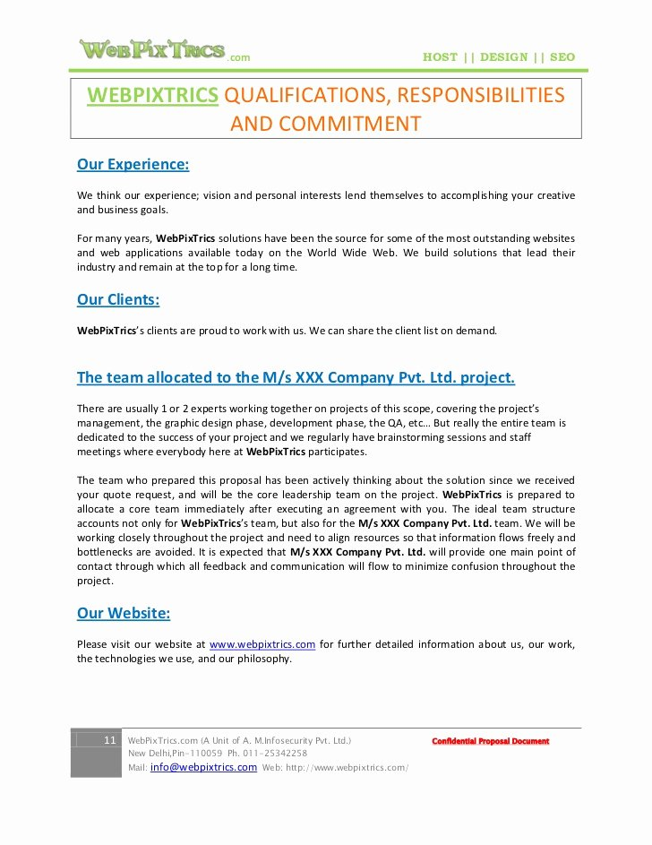 Website Development Proposal Template New Website Project Proposal Template