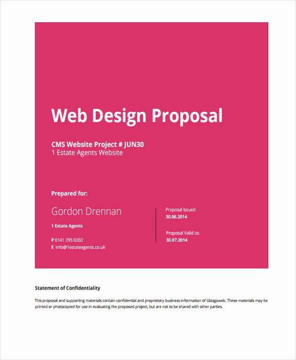 Website Development Proposal Template Unique 7 Website Design Proposal Templates Word Pdf Pages