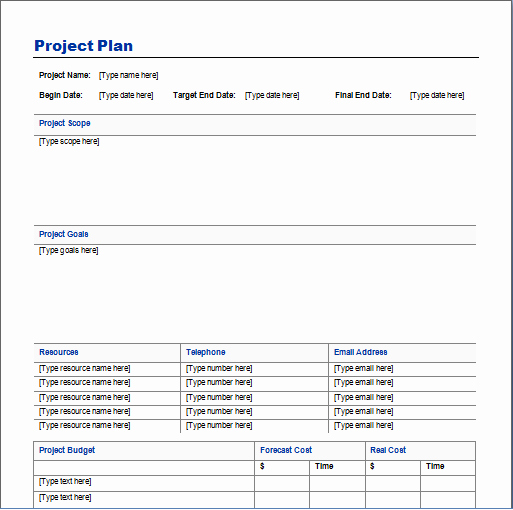 Website Project Plan Template Best Of Project Plan Template