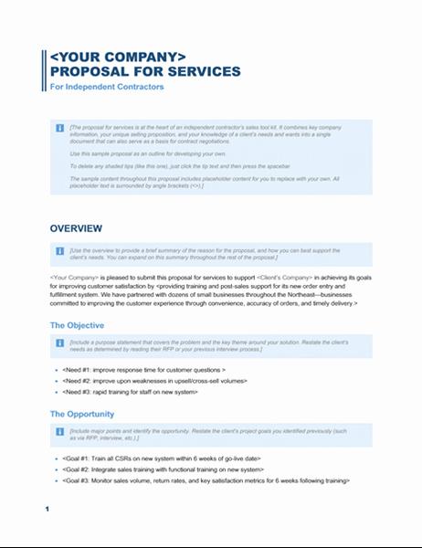 Website Proposal Template Word Beautiful Services Proposal Business Blue Design