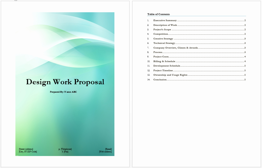 Website Proposal Template Word Best Of Design Work Proposal Template Microsoft Word Templates