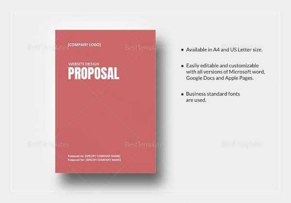 Website Proposal Template Word Elegant 11 Web Design Proposal Templates