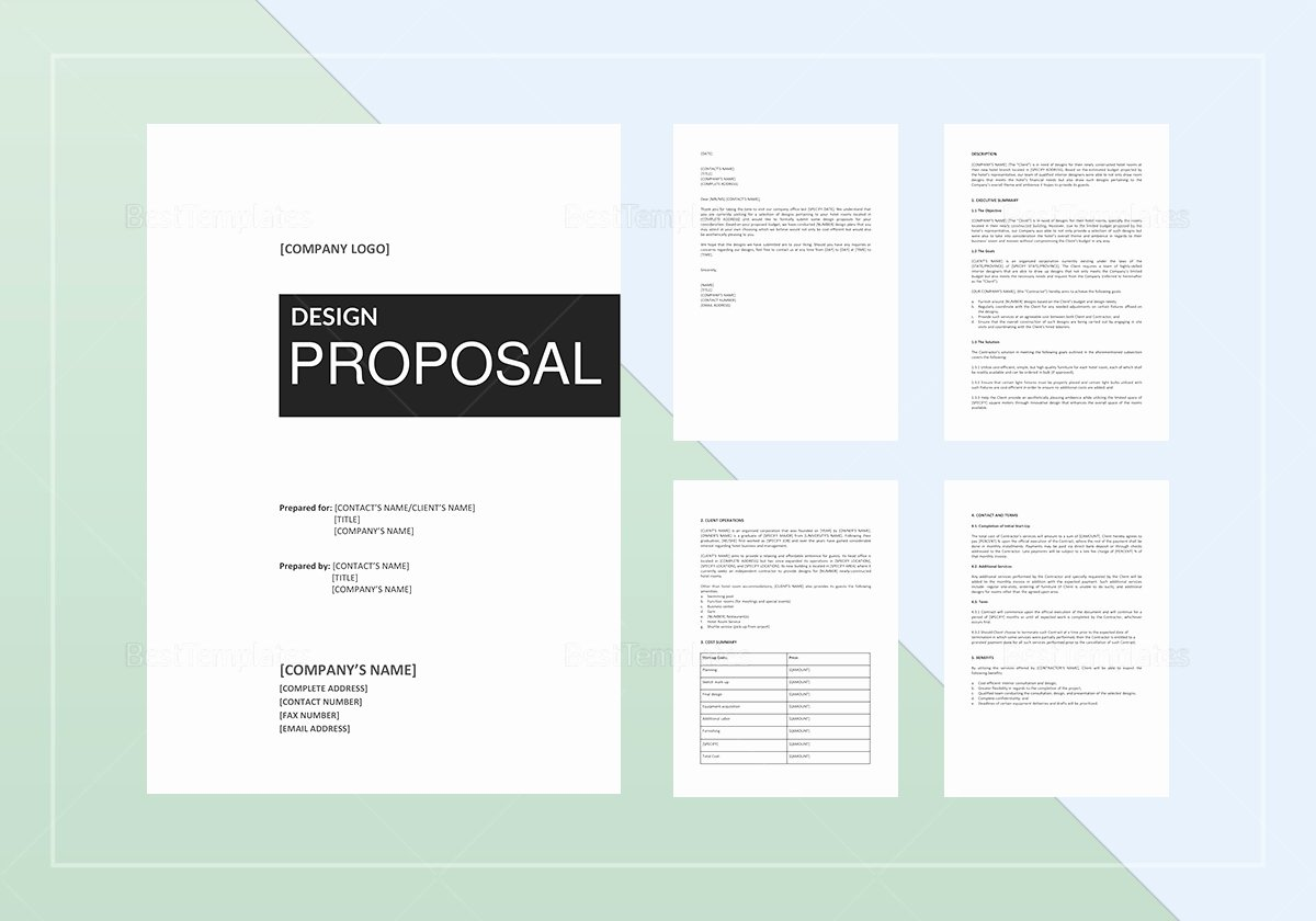 Website Proposal Template Word Elegant Design Proposal Template In Word Google Docs Apple Pages