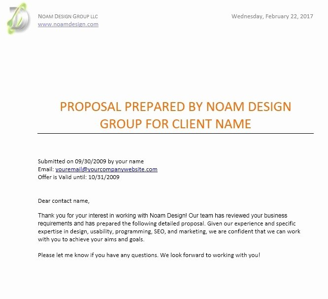 Website Proposal Template Word Fresh 12 Free Sample Website Design Proposal Templates