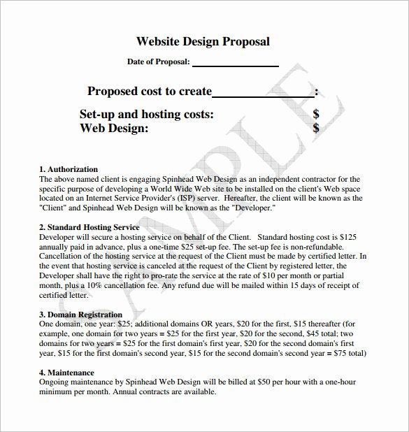 Website Proposal Template Word Lovely Design Proposal Templates 17 Free Word Excel Pdf