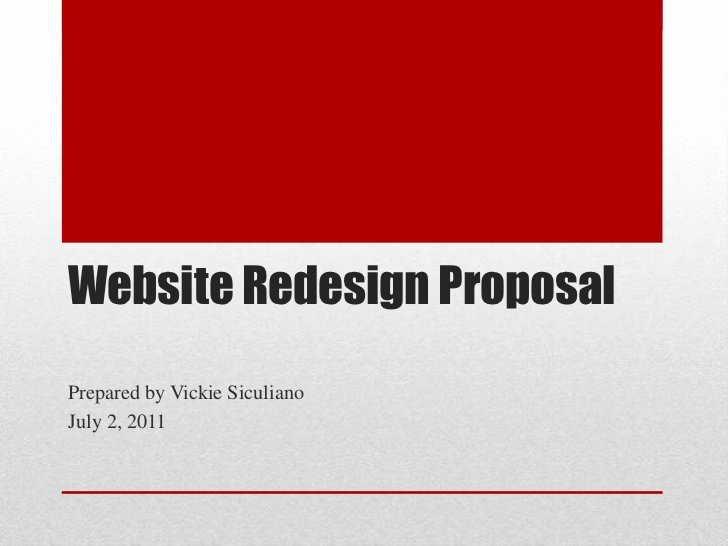 Website Redesign Proposal Template Unique How to Prepare A Website Redesign Proposal