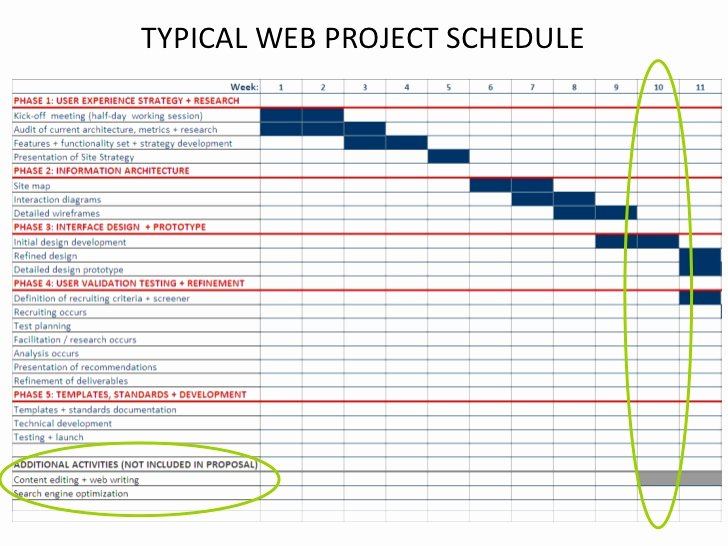 Website Redesign Proposal Template Unique Typical Web Project Schedule