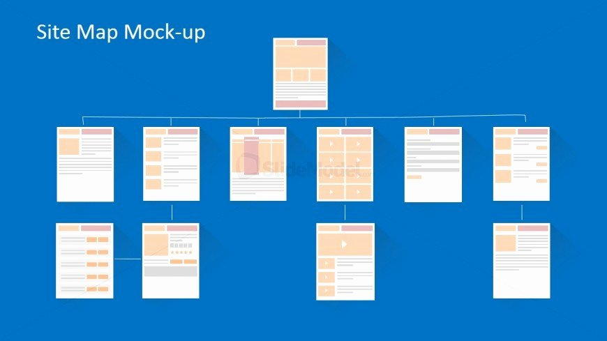Website Site Map Template Awesome Navigation and Site Map Model Powerpoint Mock Up Slidemodel