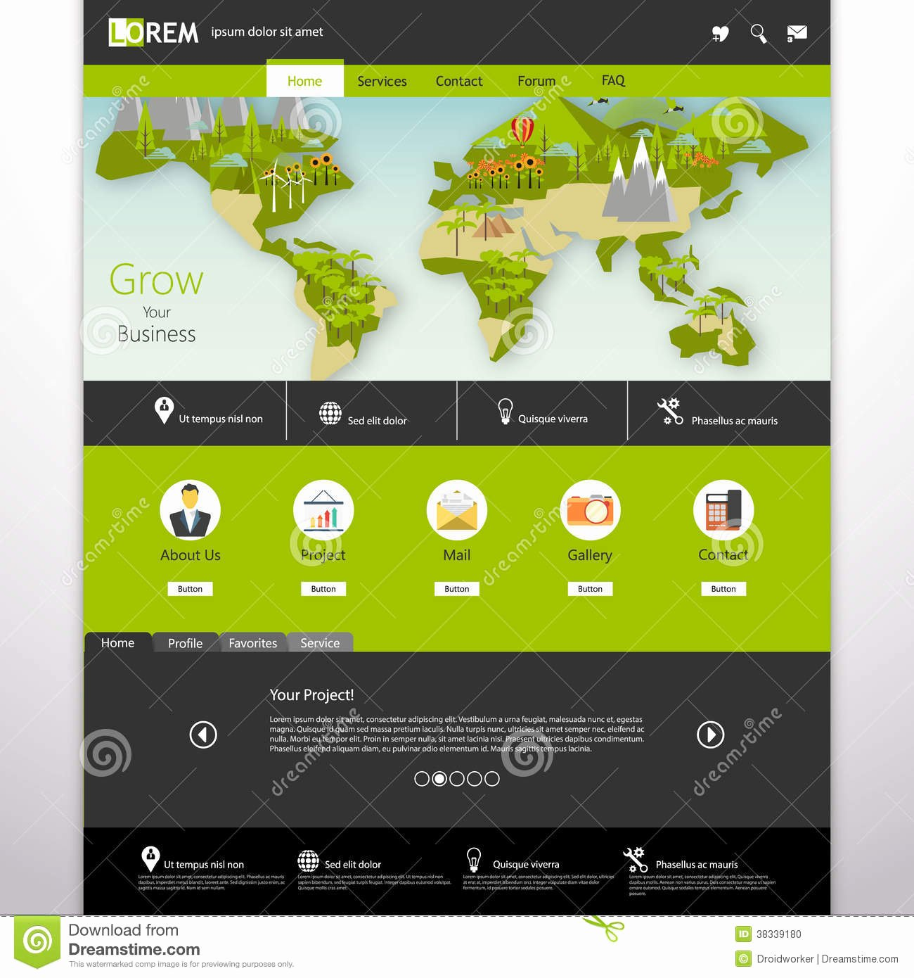 Website Site Map Template Inspirational Modern Eco Website Template with Flat Eco Earth Map