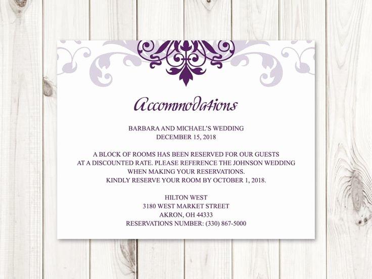 """Wedding Accommodation Card Template Awesome 32 Best Wedding Invitation Templates """"elegant Ironwork"""