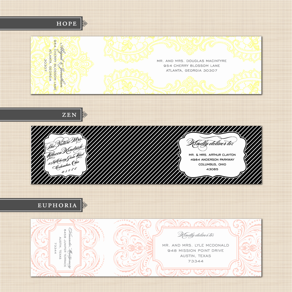 Wedding Address Label Template Best Of Belletristics Stationery Design and Inspiration for the