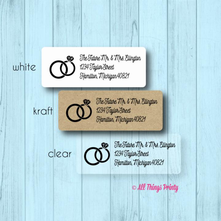 Wedding Address Label Template Luxury 17 Wedding Address Label Designs Psd Vector Eps