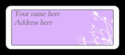Wedding Address Label Template Luxury Cape Cod Lavender Wedding Address Label Label