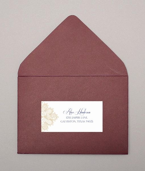 Wedding Address Label Template New Wedding Address Labels Lace and Address Label Template On