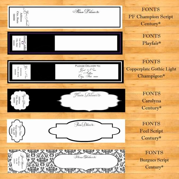 Wedding Address Labels Template Beautiful Wrap Around Address Labels Wedding Address Labels