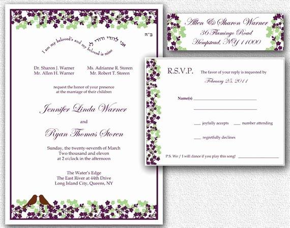 Wedding Address Labels Template Elegant Items Similar to Wedding Invitation Rsvp Card & Return