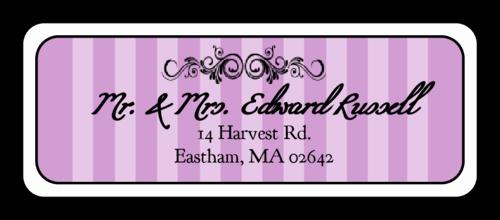 Wedding Address Labels Template Elegant Madison Avenue Purple Wedding Address Label Label