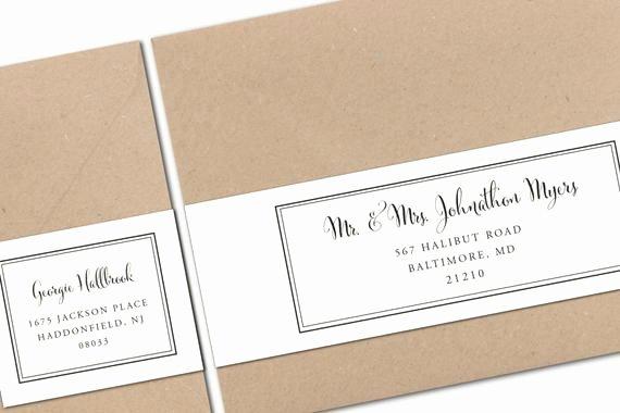 Wedding Address Labels Template Elegant Printable Wrap Around Address Labels Wedding Templates