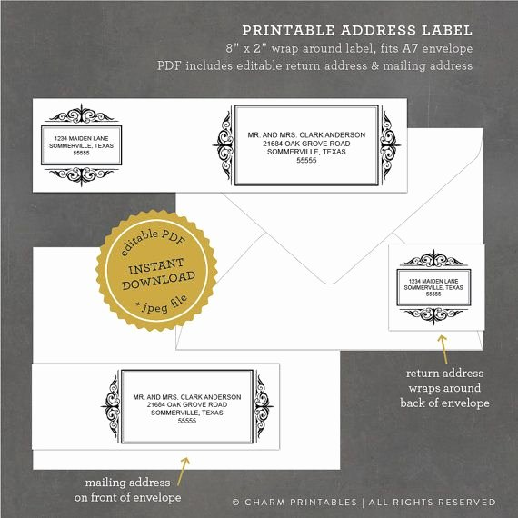 Wedding Address Labels Template Unique 17 Best Images About Wedding Invitation Inspiration On