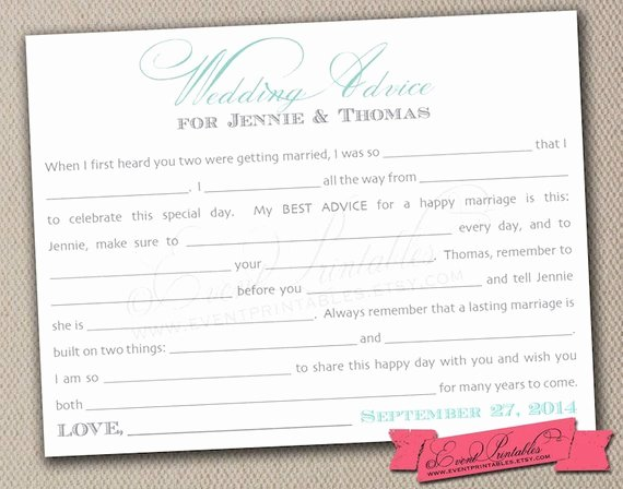 Wedding Advice Cards Template Beautiful Bridal Shower Advice Card Template Bing Images