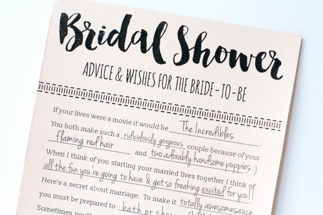 Wedding Advice Cards Template Beautiful Fun Printable Bridal Shower Advice Cards Free Download