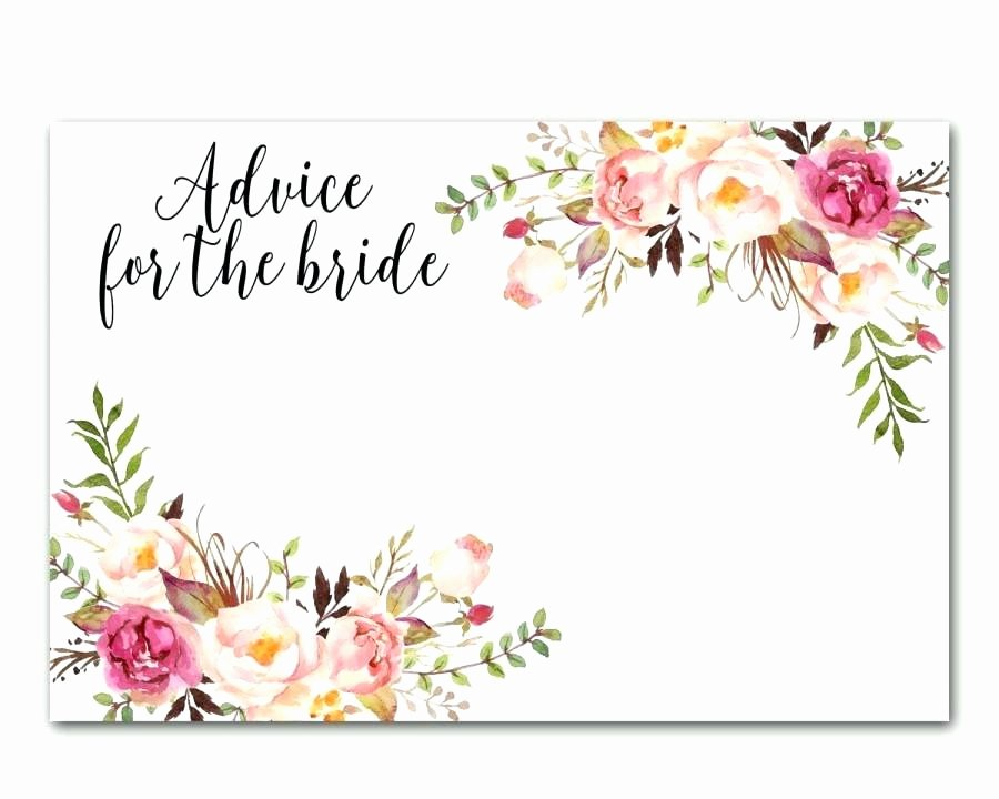Wedding Advice Cards Template Best Of Bridal Shower Advice Cards Words Wisdom Marriage Advice