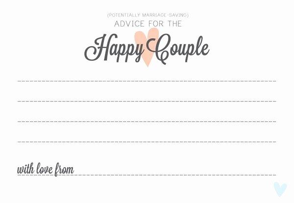 Wedding Advice Cards Template Elegant Wedding Advice Alternative Guest Book Idea Free