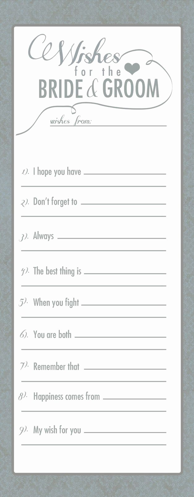 Wedding Advice Cards Template Fresh 17 Best Ideas About Marriage Advice Cards On Pinterest