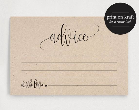 Wedding Advice Cards Template Fresh 25 Of Prbaby Advise and Card Template