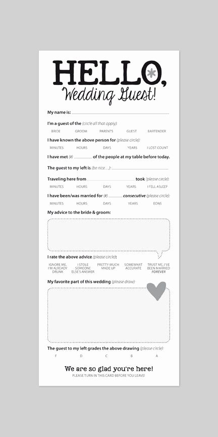 Wedding Advice Cards Template Lovely Funny Marriage Advice Card for Wedding Reception