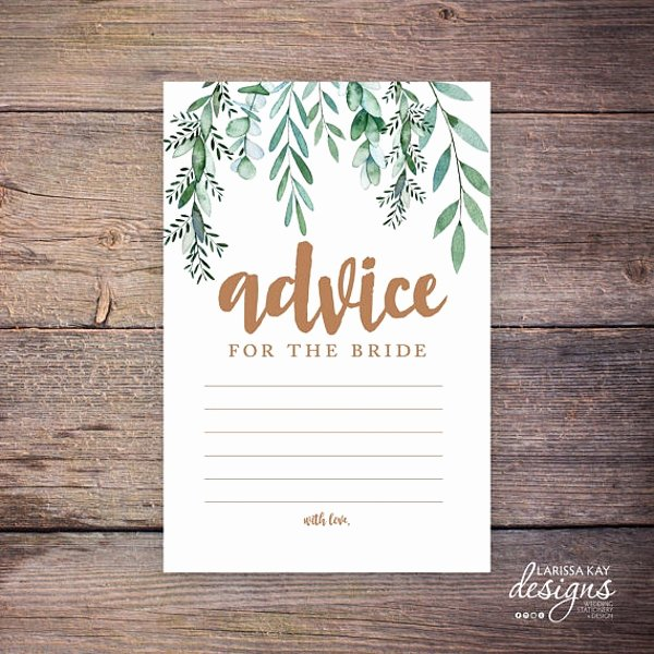 advice card template