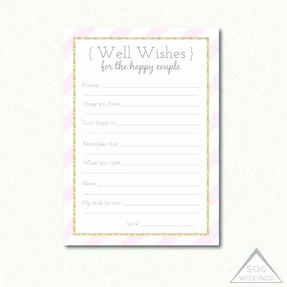 Wedding Advice Cards Template Luxury Bridal Shower Advice Cards Words Wisdom Marriage Advice